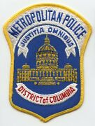 1980's Metropolitan Police District Of Columbia Dc Patch
