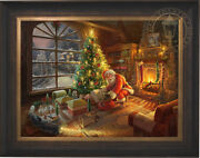 Thomas Kinkade Studios Santaand039s Special Delivery 25.5 X 34 Le G/p Canvas Framed