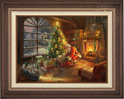 Thomas Kinkade Lionel Santaand039s Special Delivery 25.5 X 34 Le S/n Canvas Framed