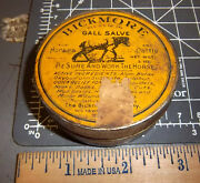 Vintage Bickmore Gall Salve Tin, Great Colors And Horse Graphic, Tin Is Still Full