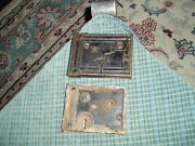 Antique W.b.b. And Co. Lock Hardware Lot Of 2 For Parts Or Repair Steampunk