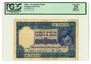 India ... P-7b ... 10 Ruppes ... Nd1925 ... Vf+ ... Pcgs 25