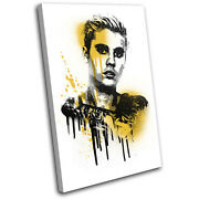 Justin Beiber Grunge Urban Musical Single Canvas Wall Art Picture Print