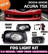 04 05 Acura Tsx Fog Light Driving Lamp Kit W/switch Wiring Clear