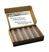 10.000 Coin Capsules Caps Capsula 26 Mm For 2 Euro Coins See Details