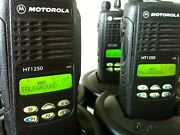 8 Motorola Ht1250 Low Band 29-42mhz 128ch Radio Aah25bef9aa5an Bat Ant Charger
