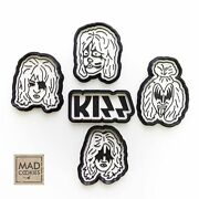 The Kiss Band Cookie Cutters Collection Set - 5 Pcs - Plastic 3d Printed