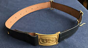 M1874 Cavalry Leather Saber Belt With Us Buckle Size Large 42-48 Indian Wars