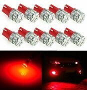 T10 High Power Samsung 5630smd Led Lights Bulb For Interior Map Dome10pcsred