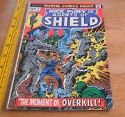 Nick Fury And His Agents Of Shield 3 Fine- Steranko Cover 1973