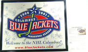 Signed Inaugural Blue Jackets Poster Entire Cbj Team Certified Jsa Loa Bb78185