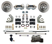 Mopar B And E Body Front Disc Brake Conversion Kit With 4 Piston Calipers