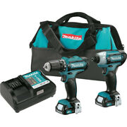 Makita Cxt 12v 1/4 Impact And 3/8 Drill Driver Kit Ct226-r Certified Refurbished
