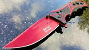 8.25 Red Mtech Spring Assisted Folding Knife Blade Pocket Open Switch