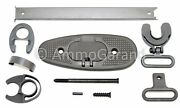 M1 Garand Butt Plate Stock And Hand Guard Metal Parts Set W/ Lower Band And Pin Grey