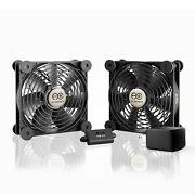 Multifan S7-p Quiet Dual 120mm Ac-powered Cooling Fan For Receiver Dvr Cabinets