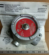 1 New Crouse-hinds Ets24-m2 Power Cutoff Switch, Et Telephone Accessory
