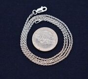 Tarnish-free Diamond Cut Rope Chain Necklace Real 925 Sterling Silver All Sizes