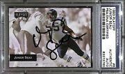 Jr Junior Seau Signed 1993 Playoff Chargers Football Card 6 Psa/dna Autograph
