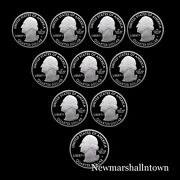 2016 2017 S America The Beautiful National Parks U.s. Coins Silver Proof Sets