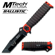 9.5 Red Mtech Spring Assisted Folding Knife Blade Pocket Open Switch
