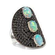 Black Friday Hsn Rarities Ethiopian Opal And Black Spinel Shield Ring Sz 7