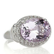 Hsn Victoria Wieck 8.2ct Pink Amethyst And Topaz Sterling Silver Ring Size 5 299
