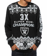 Men's Nfl Forever Collectibles Raiders Football Super Bowl Sweater Guys New
