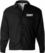 Security Windbreaker Jacket Silkscreen Left Chest And Back 13705