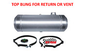 12x40 End Fill Spun Aluminum Gas Tank With Top 3/8 Npt Bung For Return Or Vent