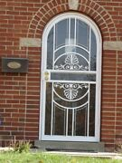 Arch Style Iron Security Storm Doors Your Choice D1or D2 With Hardware