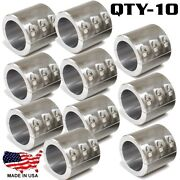 10 Steel Universal Weld On Roll Bar Clamp 1.5 Bar Cage Fabrication Cooler Mt 6b