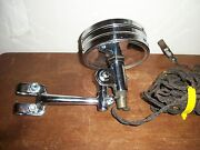 Vintage 1920and039s 1930and039s Rare Mobile Clear Glass Search Spot Old Light Lamp Antique