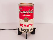 Vintage Pop Art Campbell's Tomato Soup And Chicken Noodle Soup Can Table Lamp