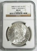 1880/9 S Overdate Vam 11 Morgan Silver Dollar Coin Ngc Mint State 64
