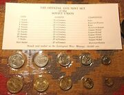 Russia 1973 Mint Coin Set + Coa Ussr Soviet Unc Russian Token And Nine Coins