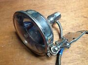 Vintage Lamp Early Old Search Spot Lamp Light 6volt Switch Works Glass Lens Nice
