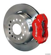 Wilwood Rear Disc Brake Kit Big Ford New Style 9 2.5 Offset Plain Rd Stagg Red