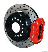 Wilwood Rear Disc Brake Kit Small Ford 9 W/ 2.5 Offset 12.19 Drilled Red