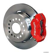 Wilwood Rear Disc Brake Kit Small Ford 9 W/ 2.5 Offset 12.19 Plain Rotor Red