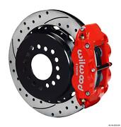 Wilwood Rear Disc Big Brake Kit Ford 8.8 W/ 2.50 Offset Drilled Rotor Red