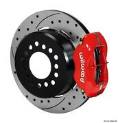 Wilwood Rear Disc Brake Kit 140-10094-dr Gm Truck 12 Drilled Rotor Red Calipers
