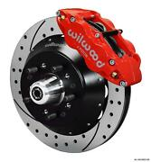 Wilwood 64-72 Chevelle A-body Front Disc Big Brake Kit 13 Drilled Rotor Red