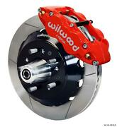 Wilwood Mopar B And E Body Front Disc Big Brake Kit 14 Plain Rotor Red Caliper