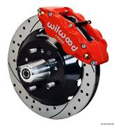 Wilwood Mopar B And E Body Front Disc Big Brake Kit 12.88 Drilled Rotor Red