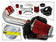 3.5 Red Heat Shield Cold Air Intake For 11-20 Durango/grand Cherokee 5.7l V8