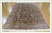 Purple 5and039 X 7and039 06 Silk All-over Rug Unique Unusual Exotic Colors