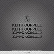 01198 Kieth Coppell Bicycle Stickers - Decals - Transfers