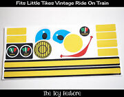 Replacement Stickers Fits Little Tikes Tykes Vintage Ride-on Train Car Engine