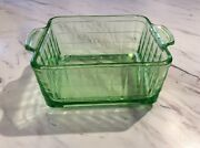 Indiana Carnival Glass Pressed Glass Green Depression Ware Bowl
